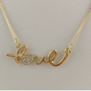 Jewelry - Gold love necklace